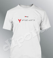 Camiseta personalizado FZ07 S M L XL XXL hombre moto FZ-07
