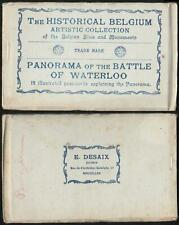 HISTORICAL BELGIUM PANORAMA of the BATTLE of WATERLOO POSTCARD BOOK - COMPLETE