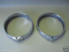 "JAGUAR S-TYPE 5 1/2"" CHROME FOG-LAMP TRIM BEZEL PAIR 10211"