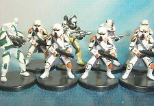 Star Wars Miniatures Lot  Republic Commando Scorch Sev Utapau Trooper !!  s97