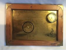 Vtg Brass Marine Nautical World Timer And Clock Collectible