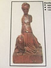 """The Badillo Santos Collection Rare 19th C. Published """"Kneeling Angel"""" Statue"""