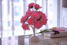 Pink Rose 15 Led Flower White Round Base Beautiful Gift Lot of 10Pcs Wholesale