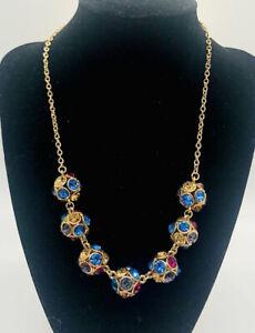 Beautiful MONET Chunky Rhinestone Ball Necklace Original Tag Vintage Jewelry