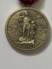 Vintage 1980'sCasino Luzern Switzerland Medal William Tell order