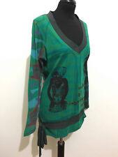 DESIGUAL Maglia Maglietta Donna Cotone Cotton Woman T-Shirt Sweater Sz.M - 44