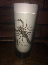 New listing Zodiac Scorpio Drinking Glass Tumbler Glassware Gold Design Lettering Great Cond