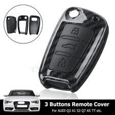Carbon Fiber Remote Smart Key Cover Fob Shell For Audi A4 A3 A6 A7 A8 Q3 Q5 TT