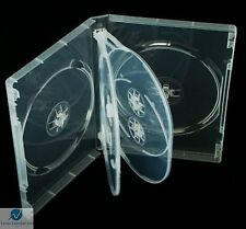 1 x 6 Way Clear DVD 22mm Spine Holds 6 Discs Empty Brand New Replacement Case