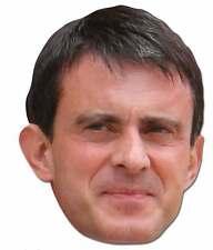 Manuel valls politicien français 2D unique carte fête masque
