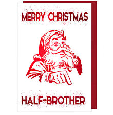 Pretty Sparkling Effect Christmas Card For Half Brother