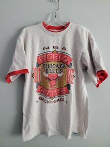 Vintage Chicago Bulls NBA World Champs 91 92 Back To Back Shirt L Jordan Pippen