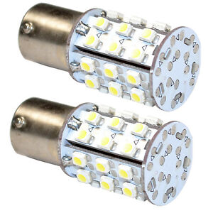 2-Pack BA15s Bayonet Base 30 LED SMD Bulb Warm White for #93-1156 RV Replacement