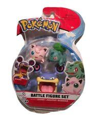 Pokemon Battle Figure Set 3 Pack - Loudred /JigglyPuff / Bulbasaur - NEW*
