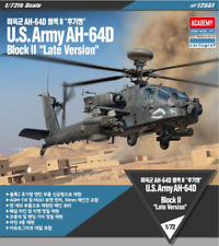 ACADEMY #12551 1/72 Plastic Model Kit U.S.Army AH-64D Block II Late version