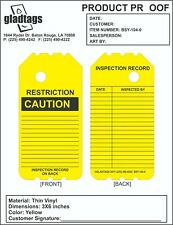 """6"""" Yellow Caution Scaffold Tags (25 Per Pack)"""