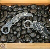 "Folding Karambit Pocket Knife Stainless Steel Construction 2 1/2"" Polished Metal"