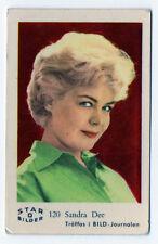 1960s Swedish Film Star Card Star Bilder D #120 US American actress Sandra Dee