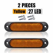10X Amber 5in LED Side Marker Clearance Light Lamp Lorry Truck Trailer 24V 12V