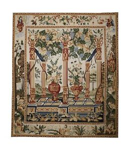 Tapestry Beige Wool Area Rug, Traditional Hand Woven Wall Decoration 122x142cm