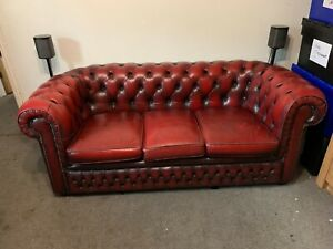 Chesterfield 3 Seater Sofa Oxblood Red