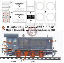 Peddinghaus 1/35 German WR 360 C12 Diesel Locomotive Markings (Trumpeter) 1830