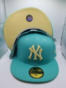 New York NY Yankees New Era 1977 ASG side patch Mint/Yellow 7 1/2