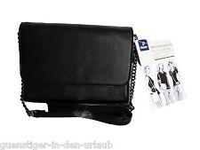 TCM Tchibo Handtasche Umhängetasche Crossbag Schultertasche oder Clutch schwarz