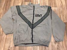 Vintage Army Sz L long Windbreaker Reflective Jacket R6