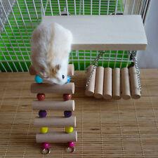 Flexible Wooden Toys Rat Mouse Hamster Parrot Hanging Ladder Bridge Shelf Cage
