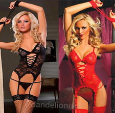 Women Sexy/Sissy Lingerie Nightwear Sleepwear Underwear Sets UK Seller