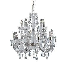 Searchlight 399-12 Marie Therese 12 Light Chandelier Clear & Chrome