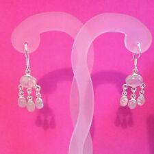 Moonstone Chandelier Oval Fine Gemstone Earrings