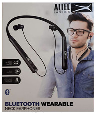 Altec Lansing Bluetooth Wearable Neck Black Earphones Brand New, Factory Sealed!