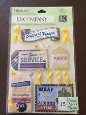 K & Company Adornments ~Americana Yellow Ribbon Armed Services NIP Free Shipping