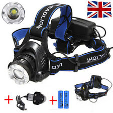 2000 Lumens Cree XML T6 LED Head Torch Zoomable Headlamp Headlight Rechargeable