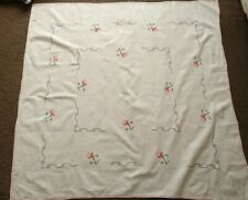 Large Square Linen Tablecloth with Napkins Embroidered BNWT from Portugal