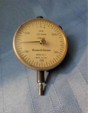 New Listingvintage Brown Amp Sharpe Dial Indicator 8336 311 1 0005 075 Range Back Lug