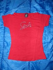 Stoli Official Womens Sexi Red Rhinestone T-Shirt Tee Top Sizes S & M New