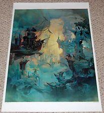 DREAM OF FLIGHT PC360 1982 Fantasy Poster John Pitre AA Graphics Flying Ships