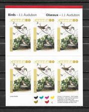 pk45777:Stamps-Canada #2040a Audubon Birds 6 x 80 cent Booklet Pane - MNH