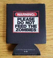 ZOMBIE WARNING Koozie/Can Cooler  Official/Licensed   NEW