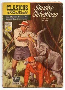 CLASICOS ILUSTRADOS #112 Sendas Selváticas, La Prensa Mexican Comic 1961