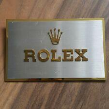 Rolex Dealer Sign Plate Display ORIGINAL GENUINE RARE 461B