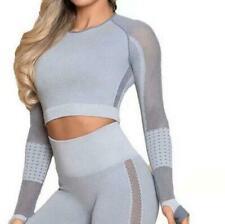 Damen Mode Sport Fitness Yoga Weste Bh Legging Hose Outfit Kleidung Set