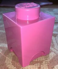Lego Storage Brick Box Pink Collectable