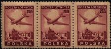 1946 Polska Poland Poczta Lotnicza x3 398 Fi. / x10 400 Fi. marginesy kombinacje