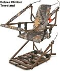 Climber Tree Stand Deluxe XL Extreme Deer Hunting Climbing Stands With Harness