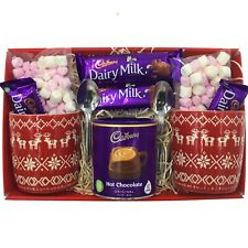 Cadbury Chocolate Lovers Couple's Gift Hamper Christmas Basket Idea Mum Dad Gran