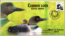 Ca17-041, 2017, Birds of Canada, Common Loon, Day of Issue, Fdc
